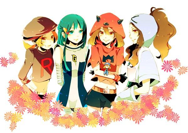 Tags: Anime, Pixiv Id 1064561, Pokémon Diamond & Pearl, Pokémon Red & Green, Pokémon Ruby & Sapphire, Pokémon Black & White, Pokémon, Haruka (Pokémon), Hikari (Pokémon), Touko (Pokémon), Kotone (Pokémon), Plasma-dan Shitappa (Cosplay), Pixiv