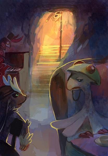 Tags: Anime, Purplekecleon, Pokémon, Breloom, Scolipede, Kecleon, Mobile Wallpaper
