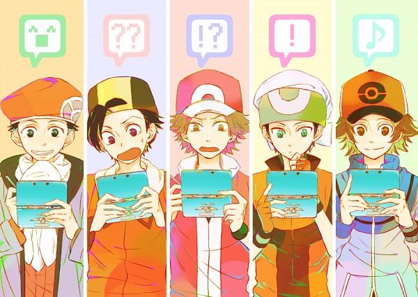 Tags: Anime, Pixiv Id 2063463, Pokémon, Fire (Pokémon), Yuuki (Pokémon), Kouki (Pokémon), Touya (Pokémon), Red (Pokémon), Hibiki (Pokémon), Nintendo DS, Emoticons, Nintendo 3DS, Pixiv