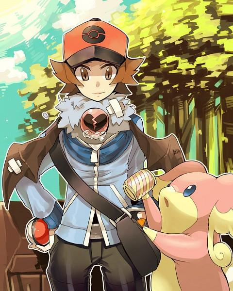 Tags: Anime, Vv998vv, Pokémon, Touya (Pokémon), Audino, Woobat, Canned Drink, Sick