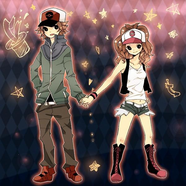 Tags: Anime, Pixiv Id 1648117, Pokémon, Touya (Pokémon), Touko (Pokémon), Pixiv