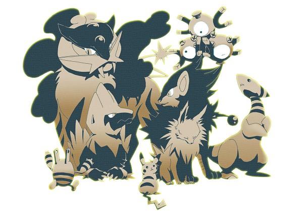 Tags: Anime, Pokémon, Elekid, Pikachu, Raikou, Magneton, Luxray, Manectric, Ampharos, Jolteon, Legendary Pokémon