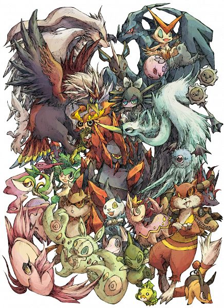 Tags: Anime, Nekogarasu, Pokémon, Darmanitan, Watchog, Zoroark, Woobat, Pansage, Tepig, Minccino, Axew, Braviary, Alomomola