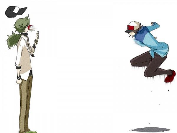 Tags: Anime, Pokémon Black & White, Pokémon, N (Pokémon), Touya (Pokémon), NTouya