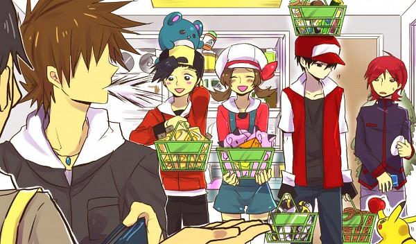 Tags: Anime, Kuronomine, Pokémon, Hibiki (Pokémon), Green (Pokémon), Pikachu, Red (Pokémon), Silver (Pokémon), Kotone (Pokémon), Marill, Shopping, Wallet, Fanart