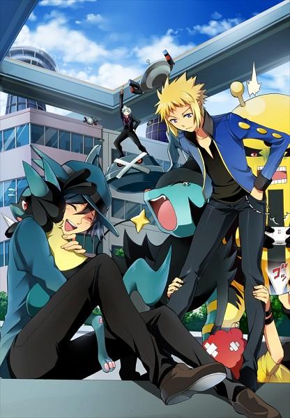 Tags: Anime, Peppermint, Pokémon, Magnezone, Magnemite, Lucario, Luxray, Electivire, Ooba (Pokémon), Metagross, Gen (Pokémon), Tsuwabuki Daigo, Denji (Pokémon)