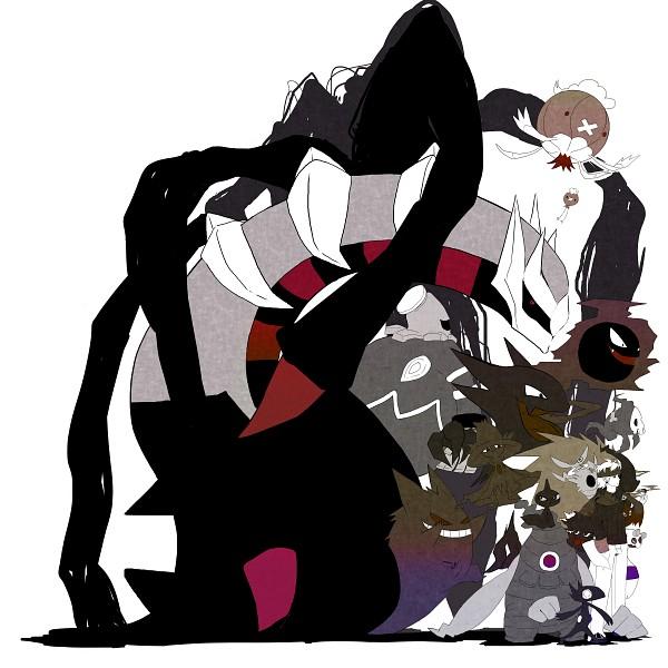 Tags: Anime, Pixiv Id 223268, Pokémon, Shuppet, Drifloon, Spiritomb, Drifblim, Giratina, Matsuba (Pokémon), Dusknoir, Duskull, Shedinja, Haunter