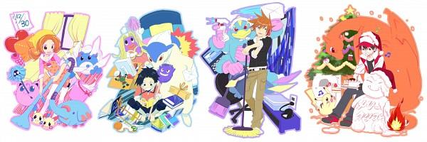 Tags: Anime, Kuronomine, Pokémon, Kotone (Pokémon), Phanpy, Red (Pokémon), Machamp, Hibiki (Pokémon), Marill, Jynx, Minun, Tangela, Typhlosion