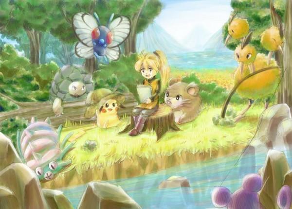 Tags: Anime, Pixiv Id 867769, Pokémon SPECIAL, Pokémon, Omastar, Pikachu, Dodrio, Golem (Pokémon), Butterfree, Raticate, Yellow (Pokémon Special), Artist Request