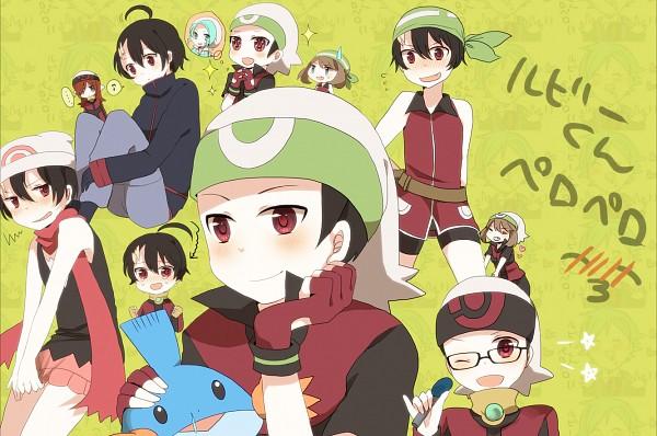 Tags: Anime, Pokémon SPECIAL, Pokémon, Tsuwabuki Daigo, Haruka (Pokémon), Mikuri (Pokémon), Yuuki (Pokémon), Silver (Pokémon), Mudkip, Fanart, Pixiv