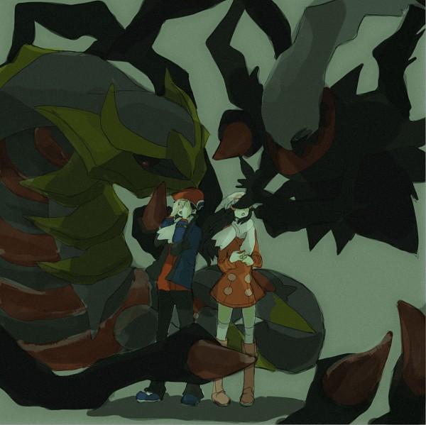 Tags: Anime, Tsuda, Pokémon SPECIAL, Pokémon, Kouki (Pokémon), Darkrai, Hikari (Pokémon), Giratina, Legendary Pokémon, Pixiv