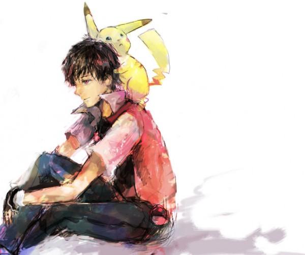 Tags: Anime, Sin Hitonatsu, Pokémon, Red (Pokémon), Pikachu