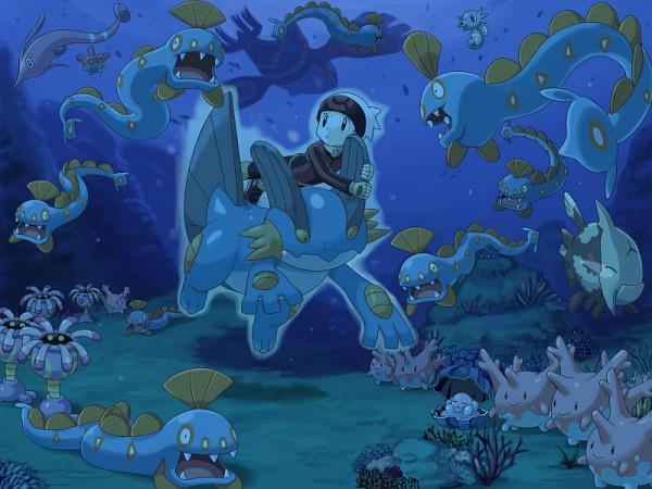 Tags: Anime, Soara, Pokémon, Huntail, Kyogre, Yuuki (Pokémon), Lileep, Gorebyss, Horsea, Clamperl, Corsola, Relicanth, Swampert