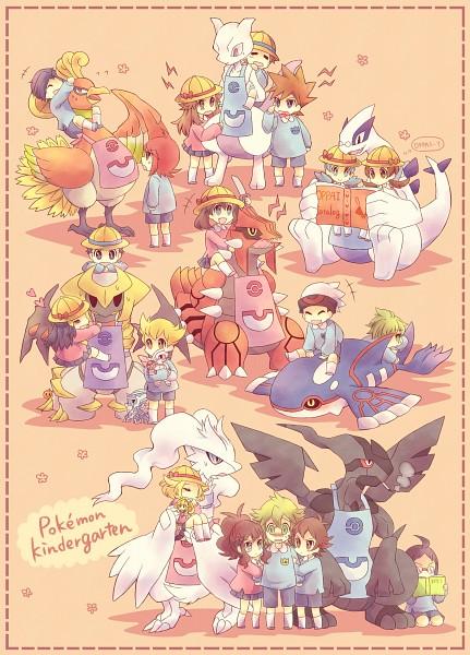 Tags: Anime, Kabocha Torute, Pokémon, Mitsuru (Pokémon), Silver (Pokémon), Lugia, Cheren (Pokémon), Hikari (Pokémon), Kise Yayoi, Green (Pokémon), Touko (Pokémon), Kotone (Pokémon), Giratina