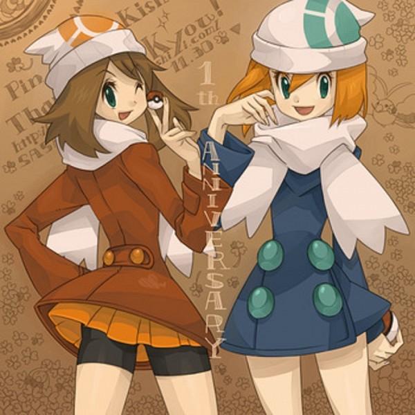 Tags: Anime, Pixiv Id 417383, Pokémon Red & Green, Pokémon Ruby & Sapphire, Pokémon, Haruka (Pokémon), Kasumi (Pokémon), Hikari (Pokémon) (Cosplay), Upscale, Fanart