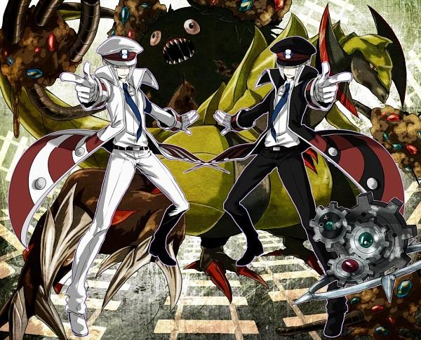 Tags: Anime, Kakesu, Pokémon Black & White, Pokémon, Nobori, Excadrill, Kudari, Garbodor, Haxorus, Klinklang, Fanart From Pixiv, Fanart, Pixiv