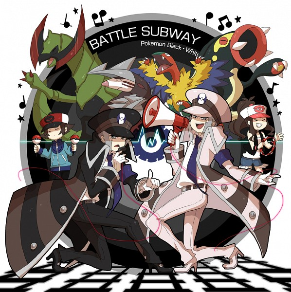 Tags: Anime, Fujichica, Pokémon Black & White, Pokémon, Eelektross, Nobori, Touko (Pokémon), Touya (Pokémon), Kudari, Archeops, Haxorus, Excadrill, Speaker