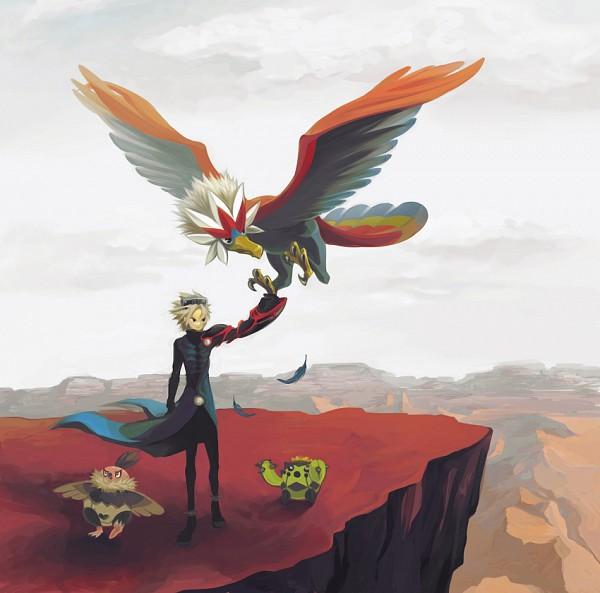 Tags: Anime, Pixiv Id 64213, Pokémon Colosseum, Pokémon, Wes, Cacnea, Vullaby, Braviary, Canyon