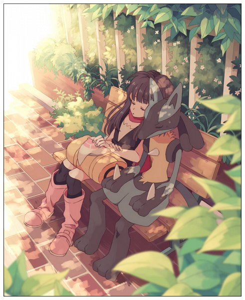 Tags: Anime, Komasawa (Fmn-ppp), Pokémon Diamond & Pearl, Pokémon, Hikari (Pokémon), Lucario, Pixiv, Fanart From Pixiv, Fanart