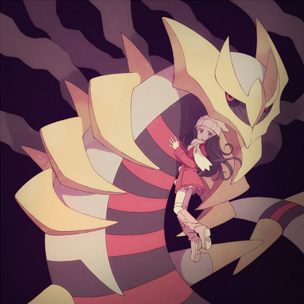 Tags: Anime, Komasawa (Fmn-ppp), Pokémon Diamond & Pearl, Pokémon, Hikari (Pokémon), Giratina, Fanart From Pixiv, Pixiv, Legendary Pokémon, Fanart