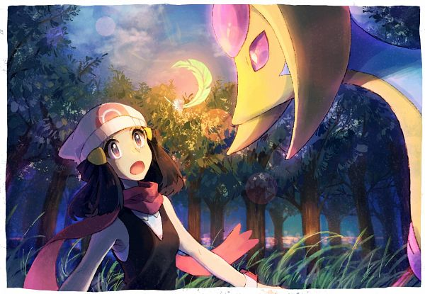 Tags: Anime, Nosutaal, Pokémon Diamond & Pearl, Pokémon, Cresselia, Hikari (Pokémon), Legendary Pokémon, Fanart, Pixiv, Fanart From Pixiv