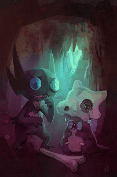Tags: Anime, Purplekecleon, Pokémon Fushigi no Dungeon, Pokémon, Sableye, Cubone, Mobile Wallpaper, Pixiv, Fanart From Pixiv, Fanart, Pokemon Mystery Dungeon