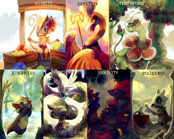 Tags: Anime, Purplekecleon, Pokémon Fushigi no Dungeon, Pokémon, Dragonair, Deino (Pokémon), Zorua, Ho-oh, Zoroark, Meganium, Stunky, Cubone, Kecleon, Pokemon Mystery Dungeon