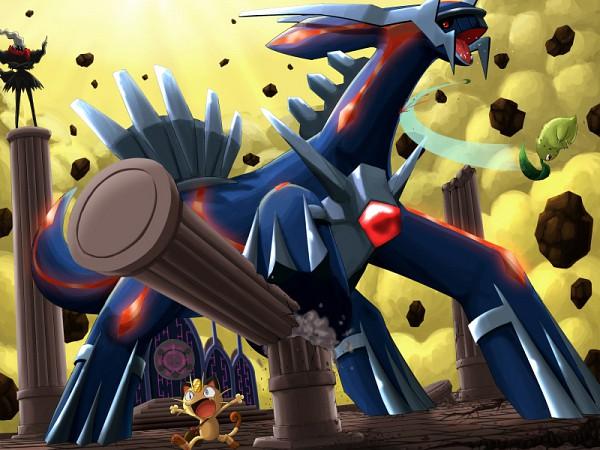Tags: Anime, Pokémon Fushigi no Dungeon, Pokémon, Meowth, Dialga, Chikorita, Darkrai, Legendary Pokémon, Pokemon Mystery Dungeon