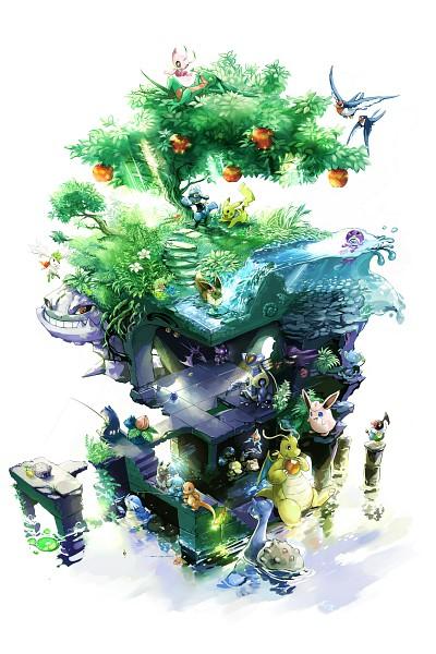 Tags: Anime, Nejita, Pokémon Fushigi no Dungeon, Pokémon, Poliwag, Pikachu, Riolu, Lapras, Rotom, Bulbasaur, Eevee, Wigglytuff, Steelix, Pokemon Mystery Dungeon