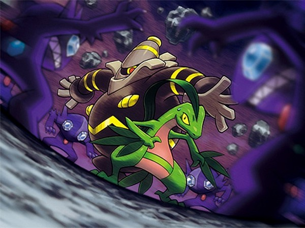 Tags: Anime, Nintendo, GAME FREAK, Pokémon Fushigi no Dungeon, Pokémon, Sableye, Grovyle, Dusknoir, Upscale, Official Art, Pokemon Mystery Dungeon