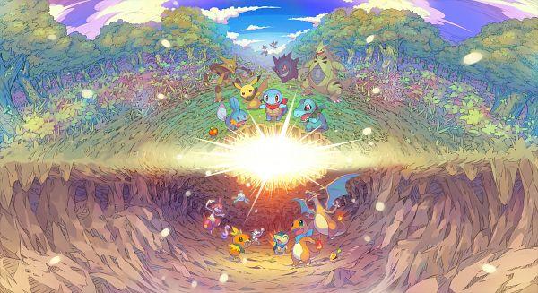Tags: Anime, GAME FREAK, Pokémon Fushigi no Dungeon, Pokémon Fushigi no Dungeon Kyuujotai DX, Pokémon, Charmander, Magnemite, Medicham, Mudkip, Murkrow, Gengar, Ekans, Squirtle, Pokémon Mystery Dungeon: Rescue Team Dx