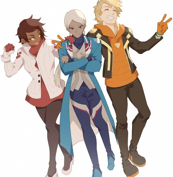 Tags: Anime, Chishionrnr, Pokémon GO, Pokémon, Spark (Pokémon GO), Blanche (Pokémon GO), Candela (Pokémon GO), PNG Conversion, Pixiv, Fanart, Fanart From Pixiv