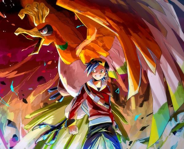 Tags: Anime, BeBeo, Pokémon Gold & Silver, Pokémon, Ho-oh, Hibiki (Pokémon), Pixiv, Fanart From Pixiv, Legendary Pokémon, Fanart