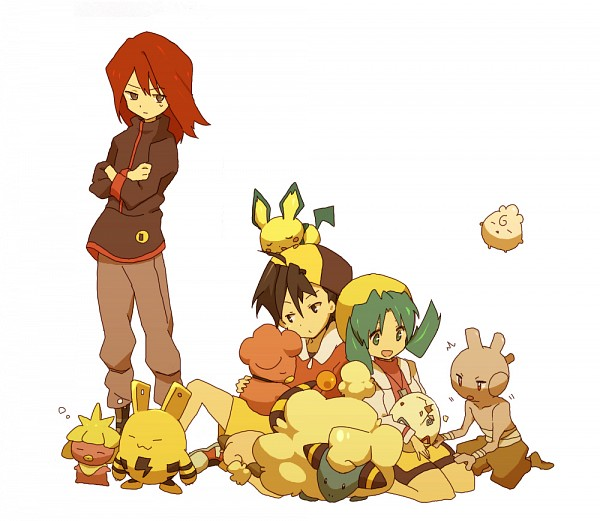 Tags: Anime, Bukiko, Pokémon Gold & Silver, Pokémon, Mareep, Igglybuff, Kris (Pokémon), Elekid, Silver (Pokémon), Hibiki (Pokémon), Tyrogue, Pichu, Togepi