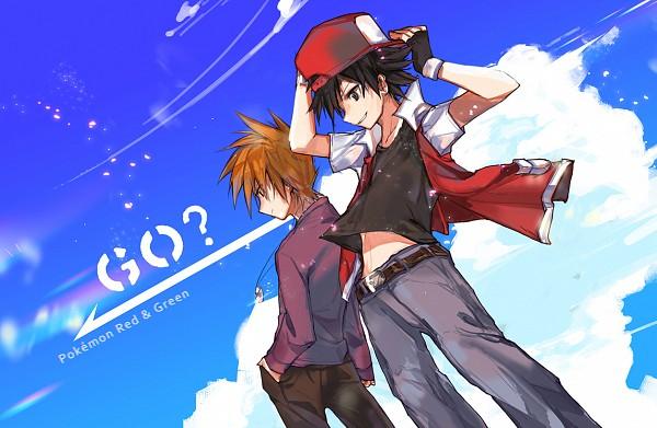 Tags: Anime, LILLIN, Pokémon Red & Green, Pokémon, Green (Pokémon), Red (Pokémon), Pixiv, Fanart From Pixiv, Fanart, ReGre