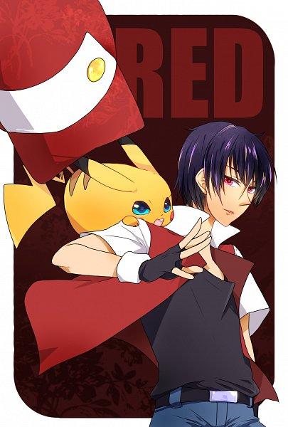Tags: Anime, Pixiv Id 1440486, Pokémon Red & Green, Pokémon, Red (Pokémon), Pikachu, Fanart From Pixiv, Fanart, Pixiv