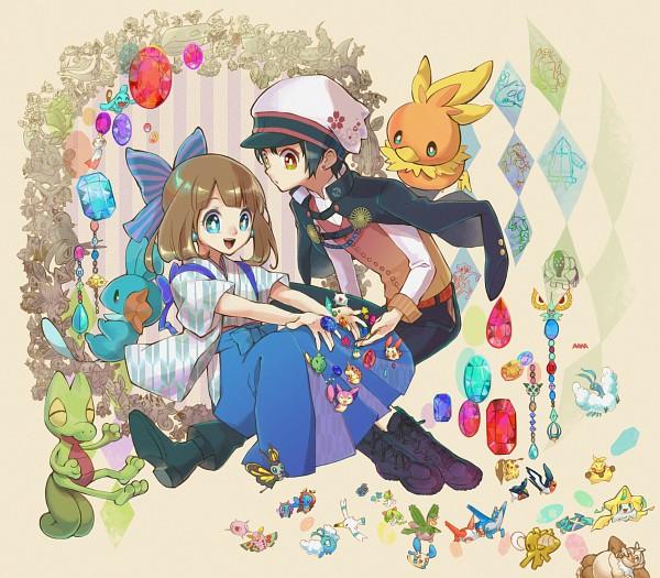 Tags: Anime, Rikovui, Pokémon Ruby & Sapphire, Pokémon, Minun, Swablu, Treecko, Azurill, Mudkip, Gulpin, Registeel, Plusle, Kyogre