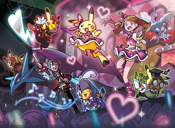 Tags: Anime, Oomura Yusuke, GAME FREAK, Nintendo, Pokémon Ruby & Sapphire, Pokémon, Haruka (Pokémon), Salamence, Pikachu, Altaria, Lutia (Pokémon), Yuuki (Pokémon), Spotlight