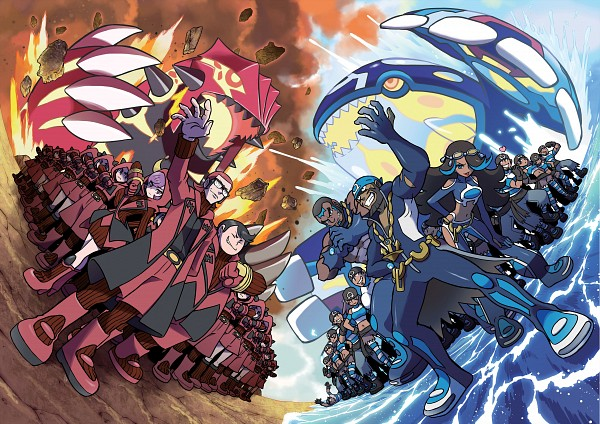 Tags: Anime, Oomura Yusuke, Nintendo, GAME FREAK, Pokémon SPECIAL, Pokémon Ruby & Sapphire, Pokémon, Izumi (Pokémon), Ushio (Pokémon), Groudon, Kagari (Pokémon), Homura (Pokémon), Team Magma Underling