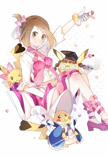 Tags: Anime, Pixiv Id 3205420, Pokémon Ruby & Sapphire, Pokémon, Haruka (Pokémon), Pikachu, Laced Shoes, Fanart, Mobile Wallpaper, Pixiv