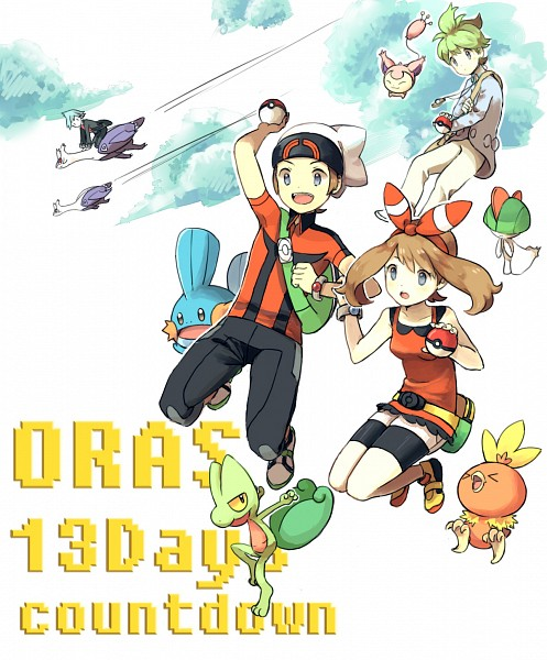 Tags: Anime, Pixiv Id 7249345, Pokémon Ruby & Sapphire, Pokémon, Treecko, Haruka (Pokémon), Tsuwabuki Daigo, Torchic, Ralts, Latias, Skitty, Yuuki (Pokémon), Mitsuru (Pokémon)