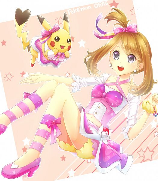 Tags: Anime, Pixiv Id 2735573, Pokémon Ruby & Sapphire, Pokémon, Haruka (Pokémon), Pikachu, Fanart, Pixiv