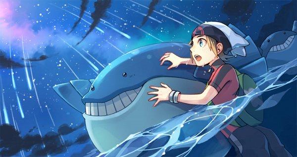 Tags: Anime, Pixiv Id 640687, Pokémon Ruby & Sapphire, Pokémon, Wailmer, Yuuki (Pokémon), Fanart, Pixiv, Fanart From Pixiv