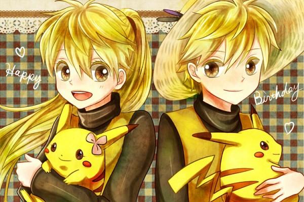 Tags: Anime, Pixiv Id 1275327, Pokémon SPECIAL, Pokémon, Yellow (Pokémon Special), Pikachu, Chuchu (Pokémon), Side by Side, Pokémon Adventures