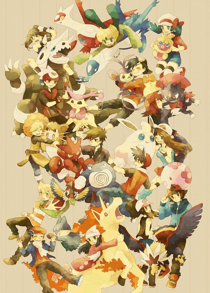 Tags: Anime, Pixiv Id 2493694, Pokémon SPECIAL, Pokémon, Blue (Pokémon SPECIAL), Rapidash, Aggron, Crystal (Pokémon SPECIAL), Pearl (Pokémon SPECIAL), Wigglytuff, Weavile, Red (Pokémon SPECIAL), Latias, Pokémon Adventures