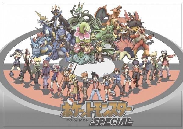 Tags: Anime, Pokémon SPECIAL, Pokémon, Yellow (Pokémon Special), Green Oak (Pokémon SPECIAL), Blaziken, Emboar, Blue (Pokémon SPECIAL), Venusaur, Pichu, Silver (Pokémon SPECIAL), Pikachu, Pearl (Pokémon SPECIAL), Pokémon Adventures