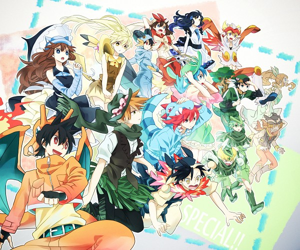 Tags: Anime, Kuromame / 黒豆, Pokémon SPECIAL, Pokémon Ruby & Sapphire, Pokémon, White (Pokémon SPECIAL), Odamaki Sapphire, Black (Pokémon SPECIAL), Ruby (Pokémon SPECIAL), Yellow (Pokémon Special), Green Oak (Pokémon SPECIAL), Blue (Pokémon SPECIAL), Crystal (Pokémon SPECIAL), Pokémon Adventures