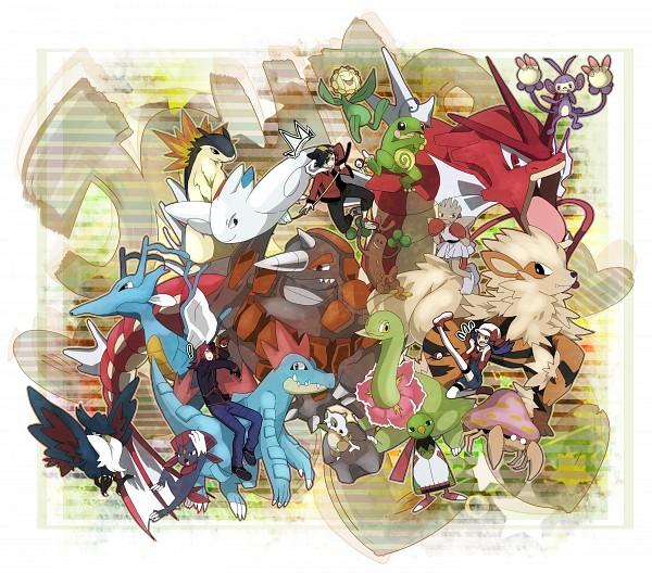Tags: Anime, Kuromame / 黒豆, Pokémon SPECIAL, Pokémon, Rhyperior, Arcanine, Weavile, Cubone, Togekiss, Politoed, Parasect, Crystal (Pokémon SPECIAL), Kingdra, Pokémon Adventures