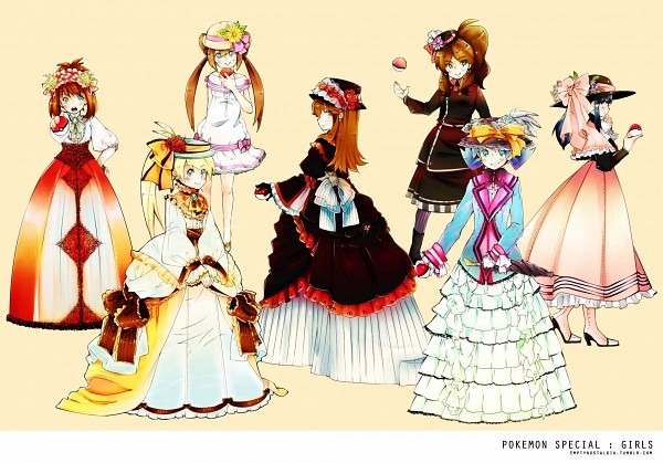 Tags: Anime, Pokémon SPECIAL, Pokémon, Odamaki Sapphire, White (Pokémon SPECIAL), Crystal (Pokémon SPECIAL), Blue (Pokémon SPECIAL), Platinum Berlitz, Yellow (Pokémon Special), Whi-two, Artist Request, Pokémon Adventures