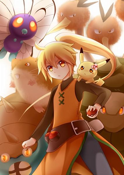 Tags: Anime, Pixiv Id 3280049, Pokémon SPECIAL, Pokémon, Yellow (Pokémon Special), Omastar, Pikachu, Dodrio, Butterfree, Pika (Pokémon), Raticate, Glowing Background, Golem, Pokémon Adventures